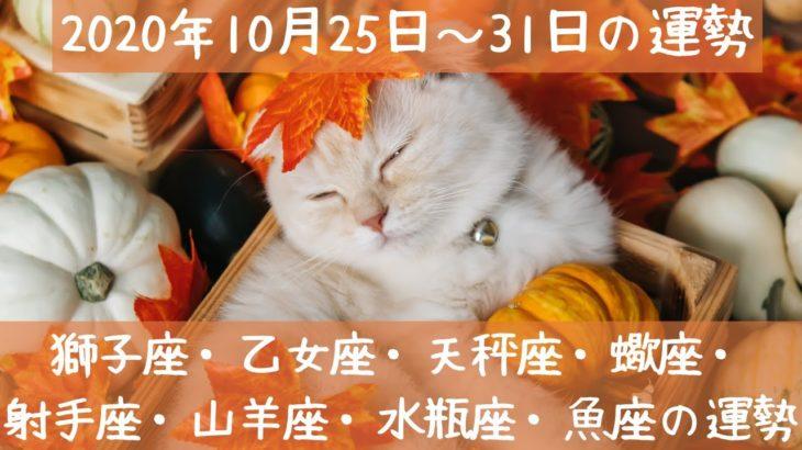 2020年10月25日~31日の運勢💖獅子座・乙女座・天秤座・蠍座・射手座・山羊座・水瓶座・魚座の運勢💫